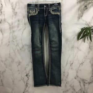 Rock Revival Boot Cut Thick Stitch Jeans BW04